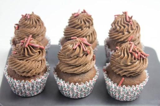 Mini Schoko Cupcakes