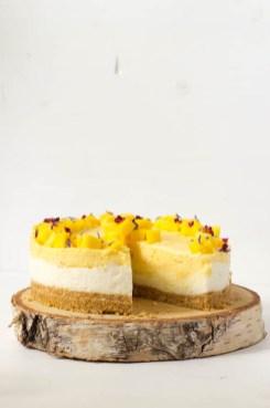 Rezept No Bake Cake Mango