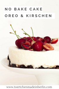 Rezept No Bake Cake Oreo Kirsche