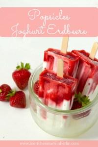 Joghurt Erdbeer Popsicles