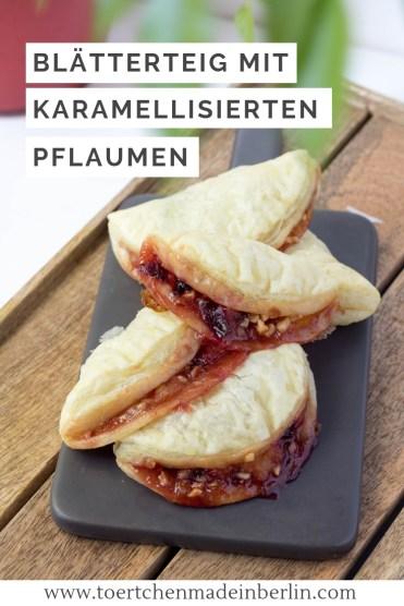 Rezept Blätterteigtaschen mit karamellisierten Pflaumen
