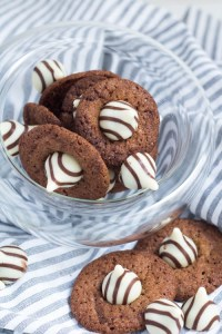 Nutella Cookies mit Hershey Kisses