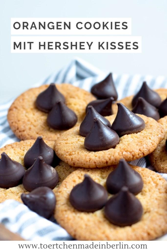 Orangen Cookies mit Hershey Kisses