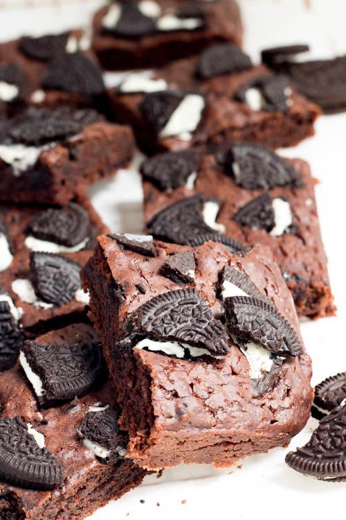 Rezept Vegane Brownies mit Oreo Keksen