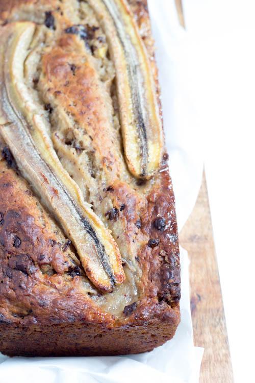 Rezept Veganes Bananenbrot mit Schokostücken