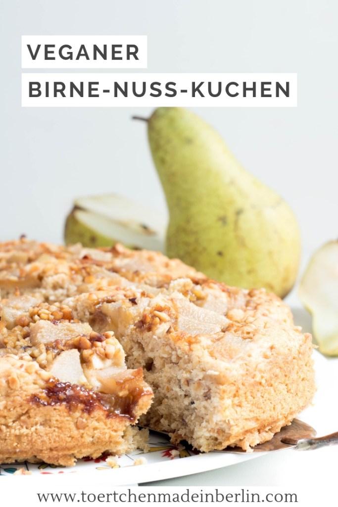 Rezept Veganer Birne Nuss Kuchen