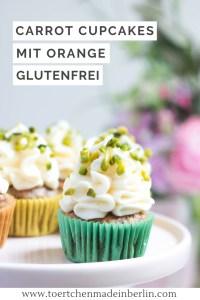 Rezept Glutenfreie Carrot Cupcakes mit Orange und Frischkäsefrosting