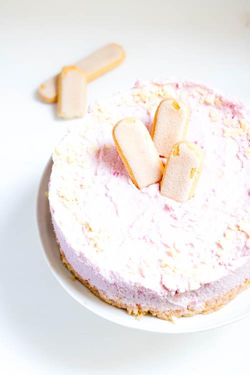 Rezept No Bake Cake Frischkäse Kirsche