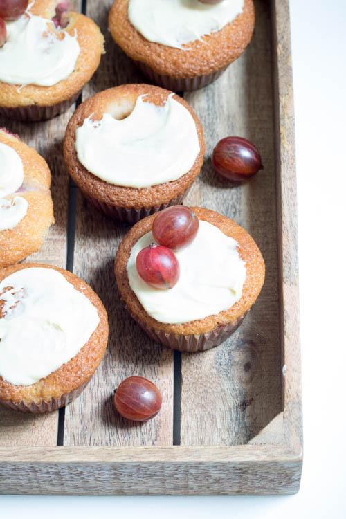 Rezept Stachelbeermuffins mit weißer Schokolade