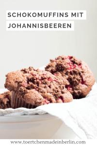 Rezept Schokomuffins mit Johannisbeeren und Schokostreusel