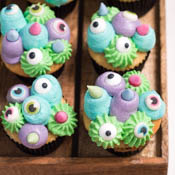 Rezept Halloween Monster Cupcakes