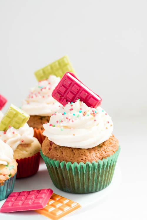 Rezept bunte Funfetti Cupcakes