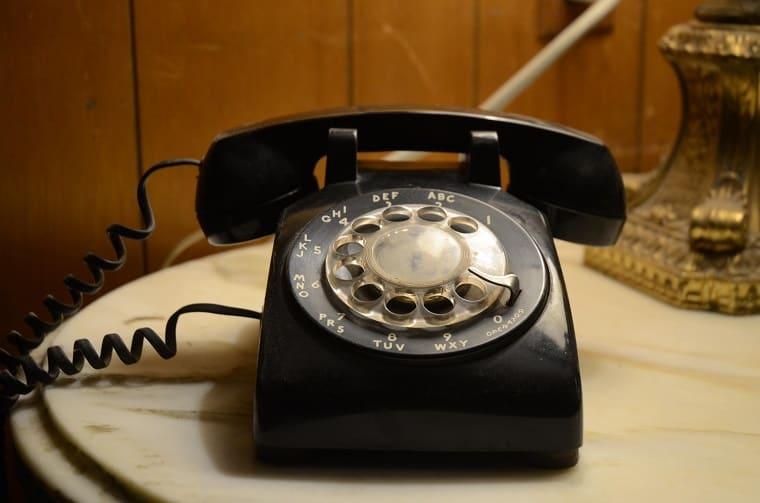 rotary dial telephone - God speaks