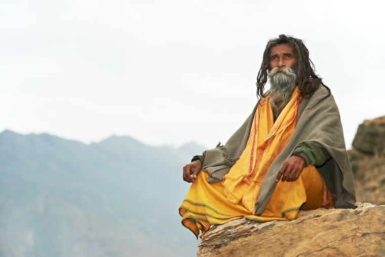 Guru on mountain - path to wisdom