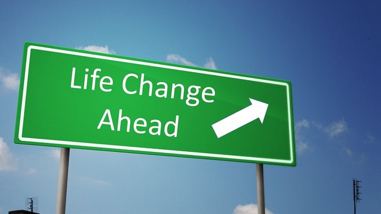 Life Change Ahead Sign