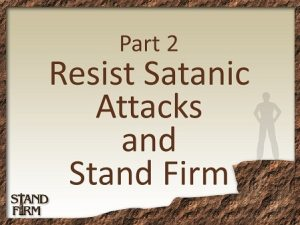 Part 2 Resist Satanic Attacks-450