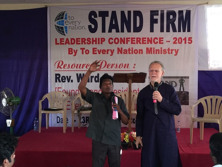 Nellore Pastors Conference Ward and Pastor John my interpreter