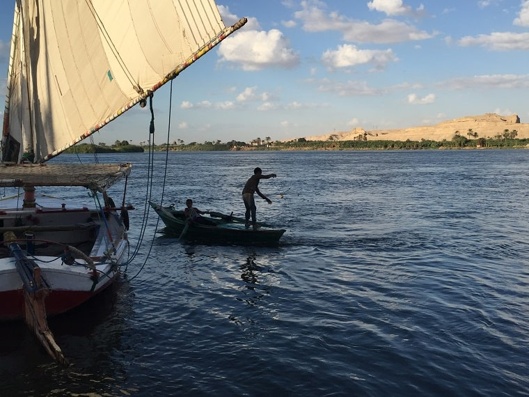 Minya Egypt Stand Firm Conference - boys fishing in the Nile river