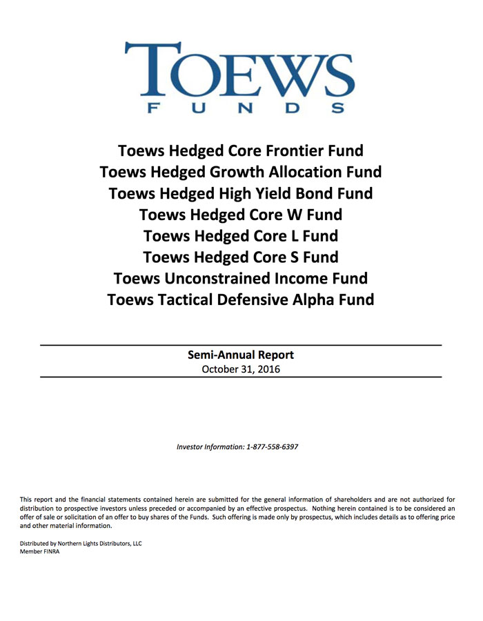 Mutual Funds | Toews Corporation