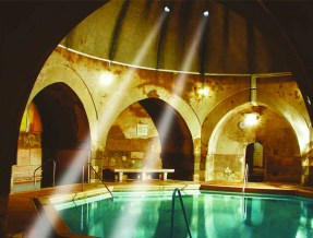 Sunshine-in-Kiraly-Bath-Turkish-Baths-Budapest