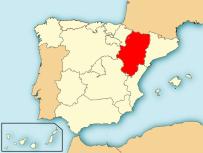 Kaart-Regio-Aragon