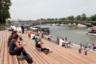 les emmarchements des berges de Seine