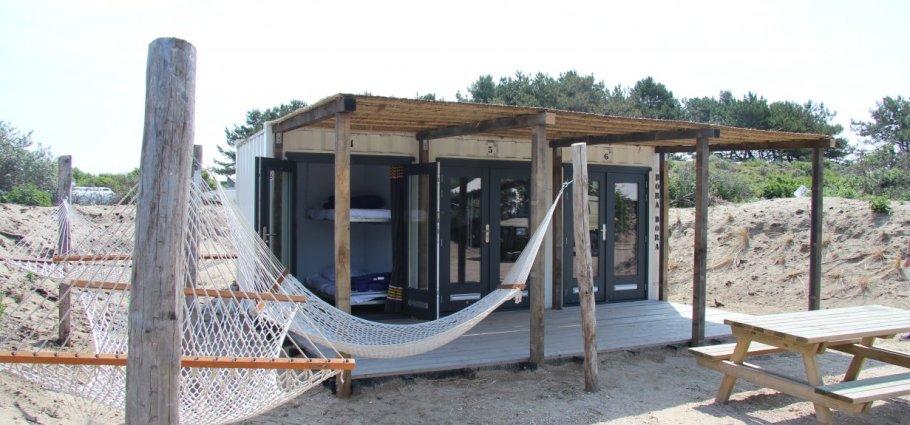 Backpack Shack duinen Strand camping de Lakens