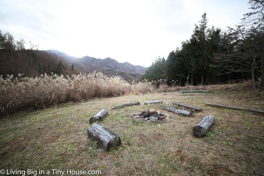Japan-Off-Grid-Cabin-Firepit-Mountains