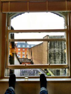 Pffffff . geniet van het uitzicht op Dublin