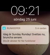 Sunday är ingen Runday alls!