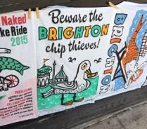 'Beware the Brighton chipthieves!' - the seagulls.