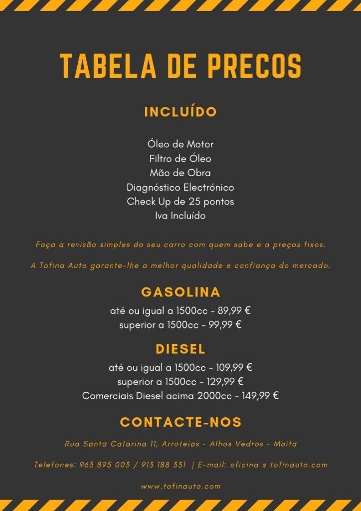 Panfleto Promoção Revisão Automóvel na Tofina Auto até 15 Agosto 2019