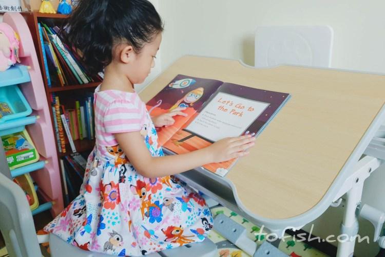 【兒童學習桌椅】可調整多功能書桌 80cm手搖升降桌椅套裝(桌+椅+閱讀書架)