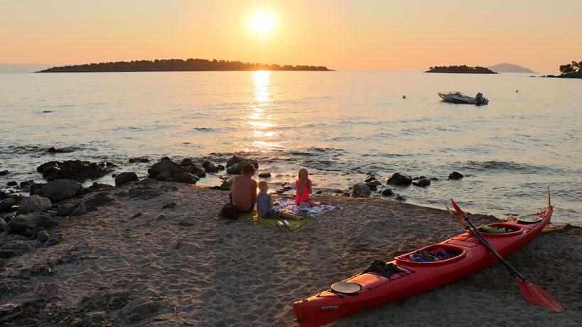 Camping Kayaking Holiday In Beautiful Greece