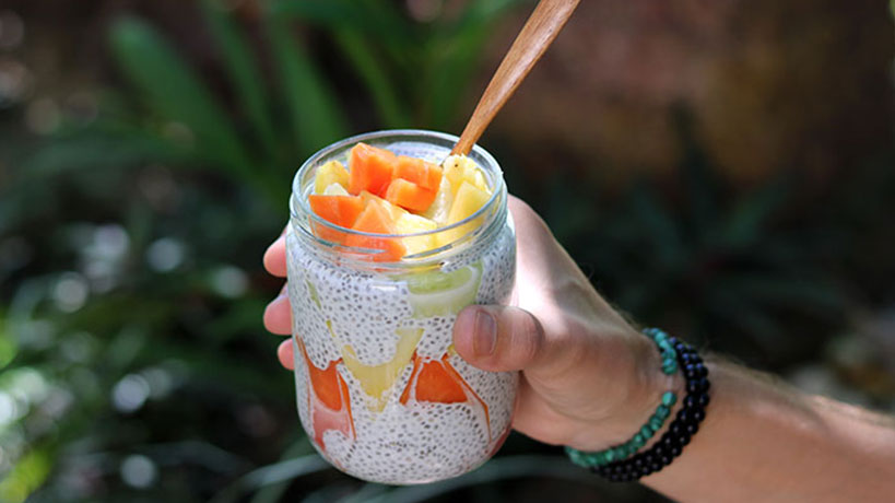 Papaya & Pineapple Coconut Chia Pudding | Tofobo Family
