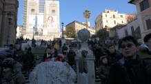 Just try to find some space to sit on the Spanish Steps.