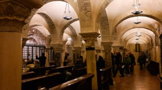 In the crypt of the Basilica di San Nicola (better known as Father Christmas).
