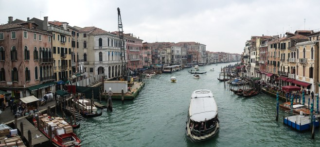 Looking over the grand canal in Venice
