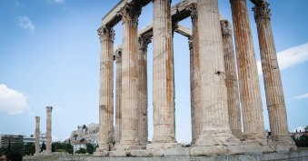 Ruins are throughout the ancient city of Athens