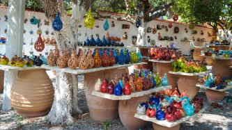 Ceramics shop near Kournas Lake