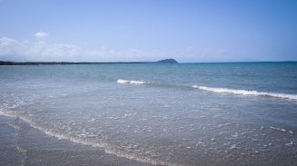 Beautiful view of port douglas panorama from sea low tide