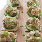 chickpea salad close up