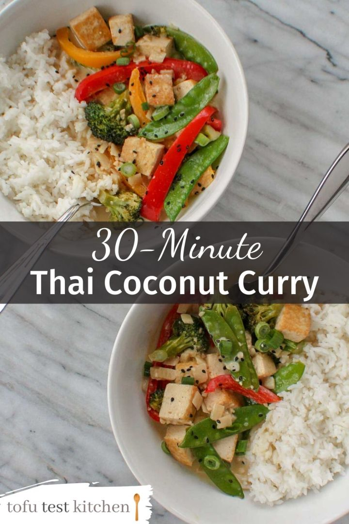 pinterest image of thai coconut curry