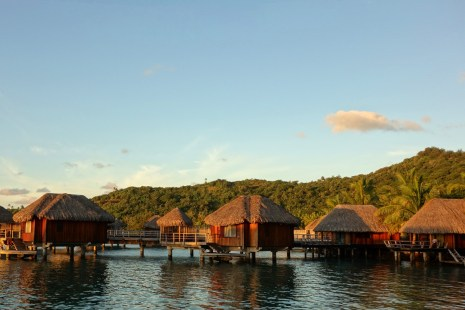 Richard R. Heckt- Bungalows at the Sofitel Bora Bora