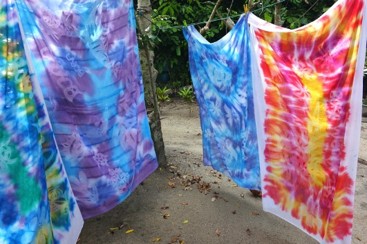 Richard R. Heckt_ Freshly Dyed Pareos Drying in the Sun