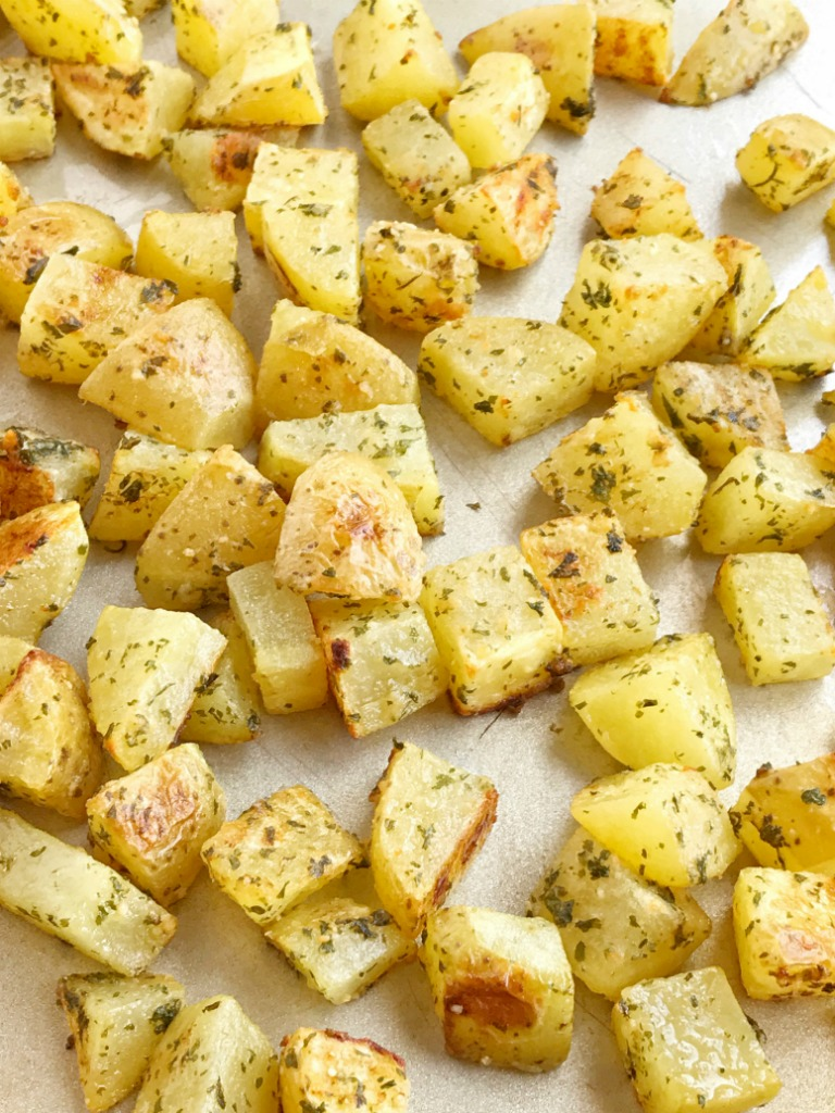 Parmesan Roasted Potatoes - Together as Family
