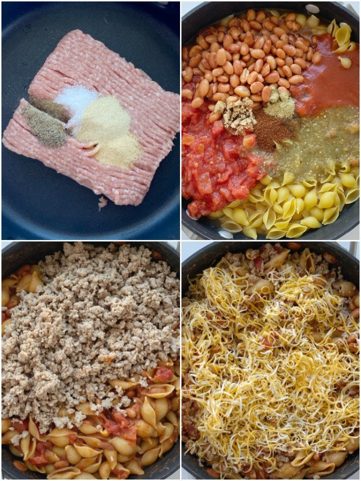 How to make turkey taco pasta with step-by-step photos.