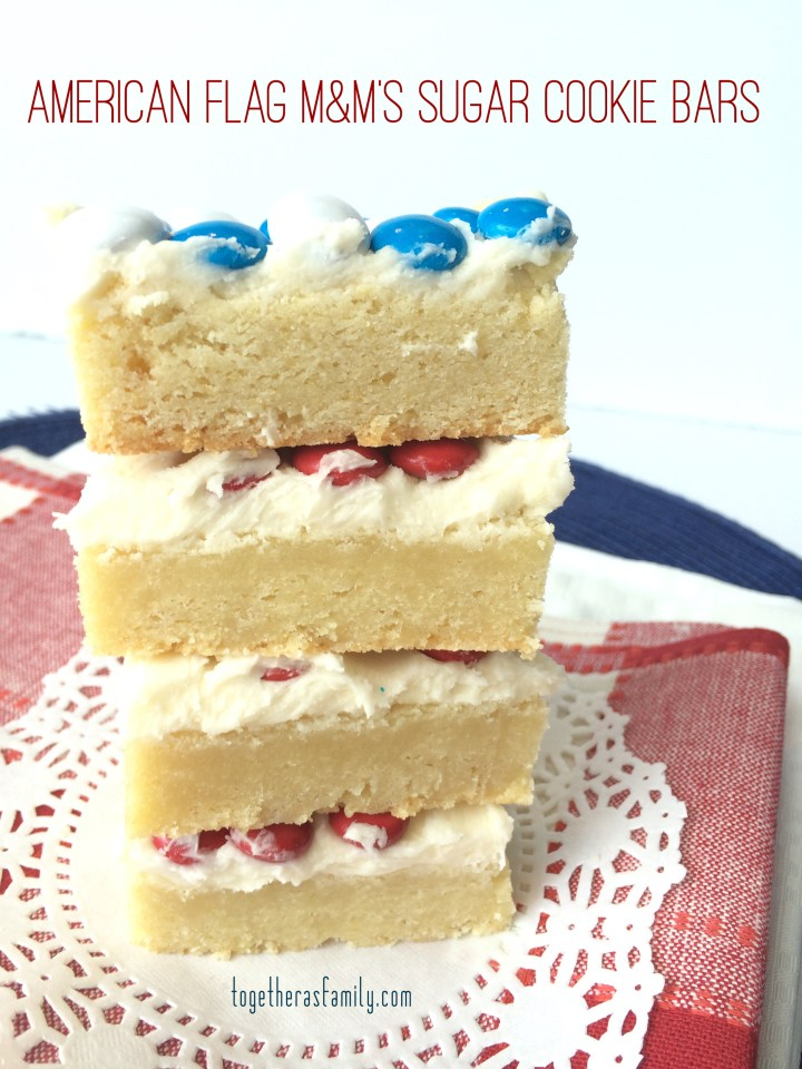 4th of July Sugar Cookie Bars- www.togetherasfamily.com