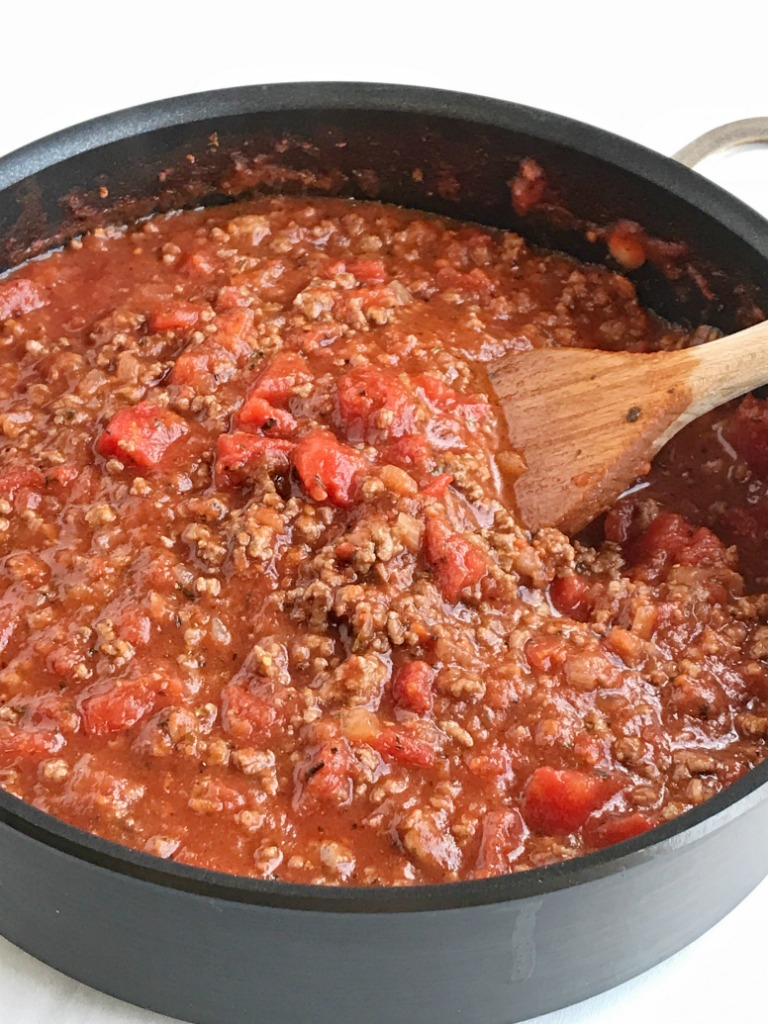 Homemade Spaghetti Meat Sauce - Together as Family