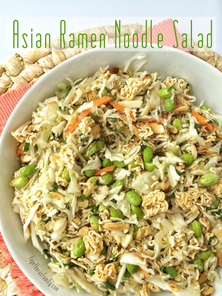 ASIAN RAMEN NOODLE SALAD- sweet, savory, crunchy, toasty! This is the best! | www.togetherasfamily.com